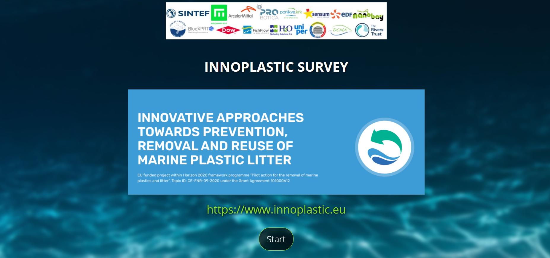 Partecipa al sondaggio INNOPLASTIC sui rifiuti marini