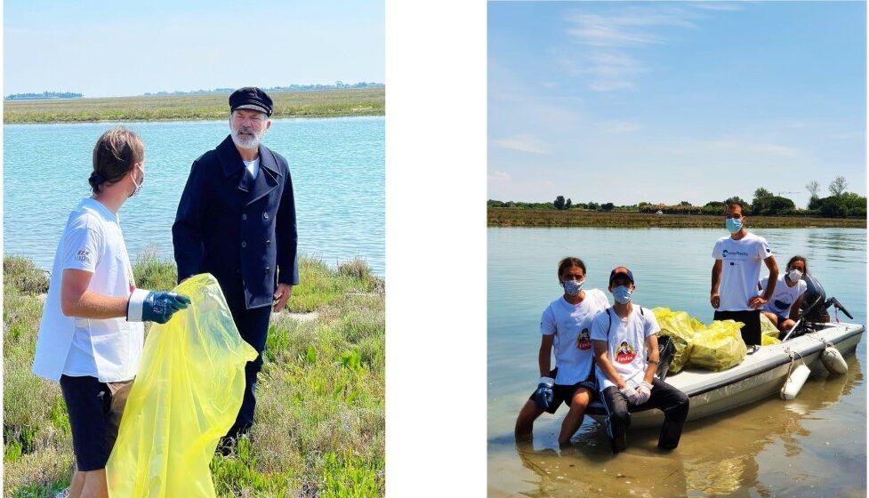 capitan findus e venice lagoon plastic free